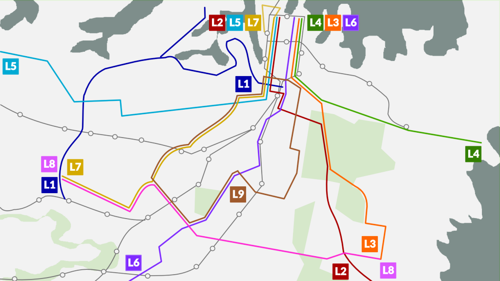 Inner City Route Map