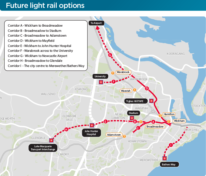 Future Newcatle Light Rail Options